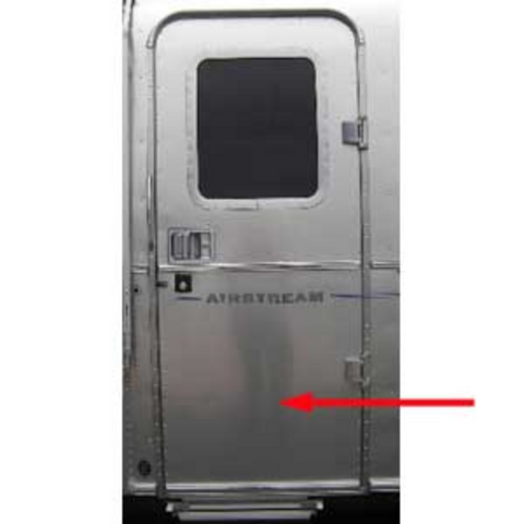 Airstream Main Door Outer Skin, Lower - 114449-03