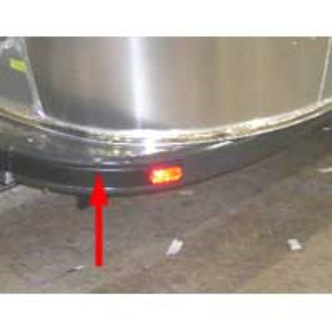 Airstream Trailer Bumper Haircell Rear Corner, Curbside - 201974-04