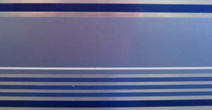 "Airstream 6-1/2"" Blue Multi-Stripe Decal - 385895"