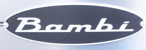Airstream Bambi Nameplate, Black/Gray - 386126
