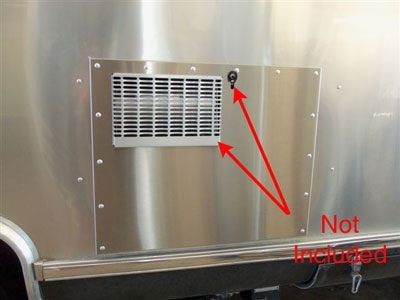 Airstream Stainless Steel Water Heater Door with Rivet Holes, 14 Olympic Rivets - 39765W-01