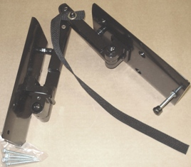 Airstream 100 mm x 100 mmDouble Swing Arm With Lock Mount TV Bracket - 512457