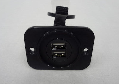 Airstream Front Mount Non-Lighted Dual USB, Black - 513133-01