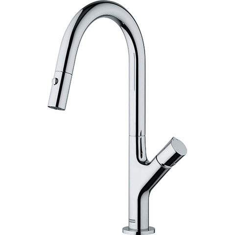 Airstream Single Hole Galley Faucet with Pull Out Sprayer - 602703