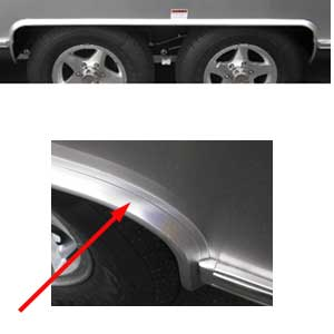 Airstream Pre-Bent Tandem Outer Wheel Well Trim - 684936