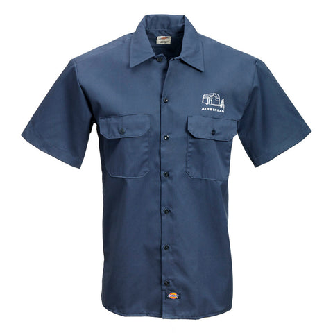 Airstream Short Sleeve Work Shirt by Dickies® - Navy or White