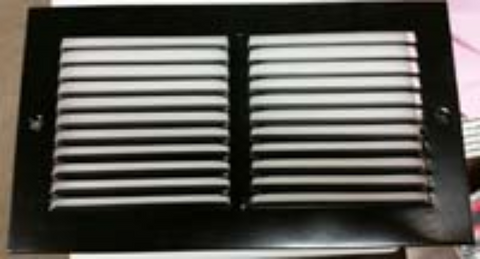 "Airstream Return Air Grille 12"" x 6"", Black - 382298"
