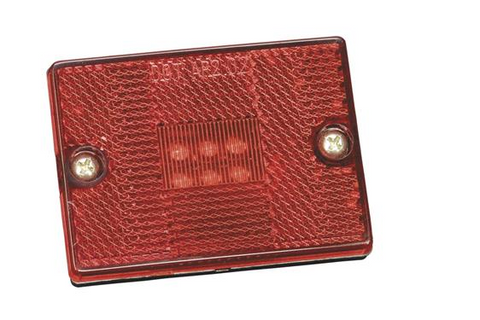 Bargman LED 42 Series Clearance Light, Red 47-42-401
