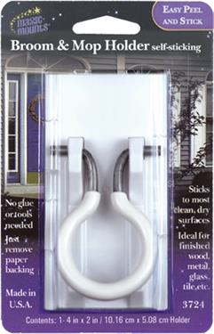 MAGIC MOUNTS 3724 Broom/MOP Holder 1PK