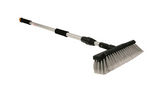 Camco RV Flow-Through Wash Brush with Adjustable Handle and Integrated Squeegee (43633)