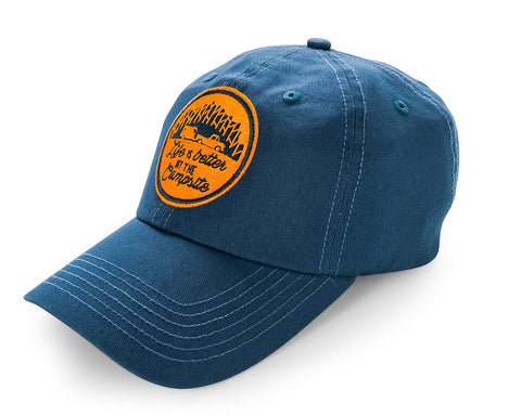 Camco Life is Better at the Campsite One-Size Hat with Adjustable Strap, Navy