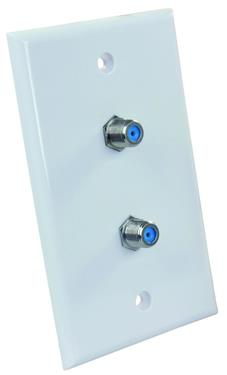 JR Products 47875 Dual Wall Plate