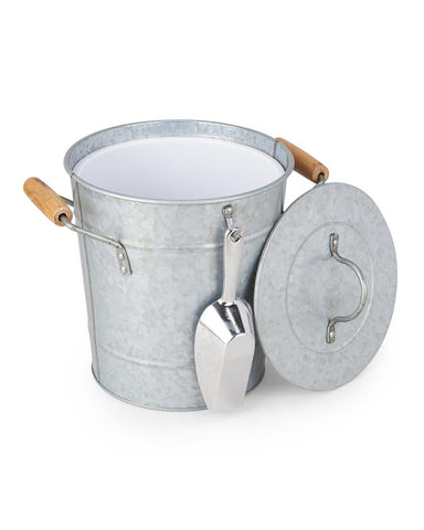 Artland Masonware Ice Bucket with Scoop, Galvanized, Metal