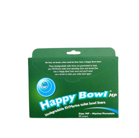 Original Happy Bowl Biodegradable RV Toilet Bowl Liners or Porcelain or Plastic Toilets, Pack of 50