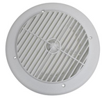 "Valterra A10-3355VP White Rotating Heat and A/C Register (4"" ID, 7"" OD)"