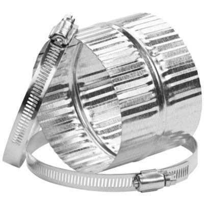 "Imperial VTL 0012 4"" Dia Crimped Galvanized Steel Flexible Duct Connector"