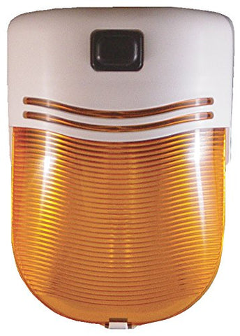 Fasteners Unlimited 007-30SAP Omega 12 Volt Porch Light, Amber Lens