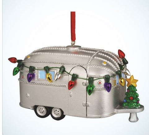 Airstream Light Up Resin Ornament