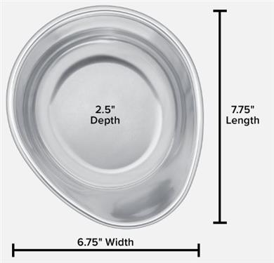 "Pet Comfort Stainless Steel Pet Dish for 6"" or 8"" Stand, 32 Ounce"