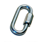 Prime Products 18-0110  Trailer Safety Chain Quick Link; D Type; Class I And Class II; 1/4 Inch Diameter Link; Galvanized Steel