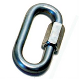 Prime Products 18-0130 Trailer Safety Chain Quick Link; D Type; 3/8 Inch Diameter Link; Galvanized Steel