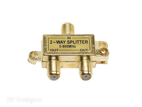 RV Designer Collection T189 in-Line Coaxial 2-Way Splitter