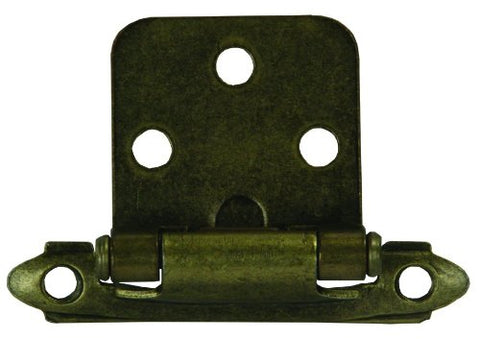 JR Products 70585 Self-Closing Flush Mount Hinge - Antique Brass