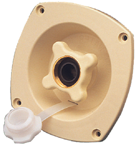 SHURFLO 18302911 Wall Mount Water Pressure Regulator 65 psi - Cream
