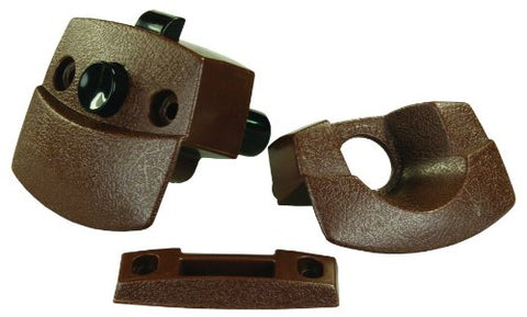 JR Products 20505 Sliding Door Privacy Latch - Brown