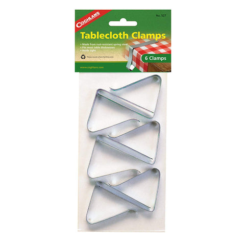 Coghlans 527 Table Cloth Clamps 6 Count