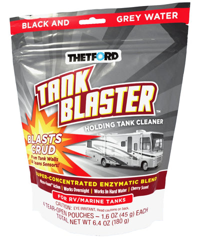 Thetford Corp White 1.6 oz 96527 Blaster Holding Tank Cleaner-4-Pack 1.6 oz. Pouches