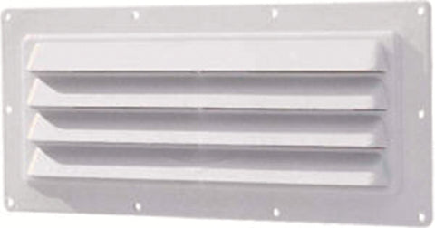 Stove Vent Hood Exhaust Exterior Wall Vent -Polar White