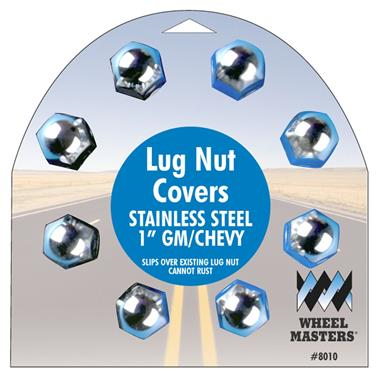"Wheel Masters 8010 Custom Cover-Gm, Chevy & Other 1"" Lug Nuts"