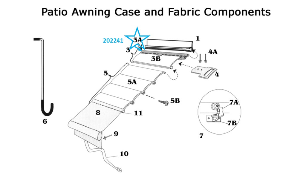 Zip Dee Curb Side Main Awning Wide Flex Key Only, By The ...