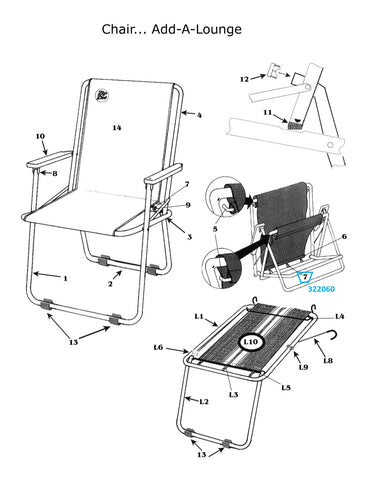 Zip Dee Chair Spring for Standard or Wide Chair - 322060
