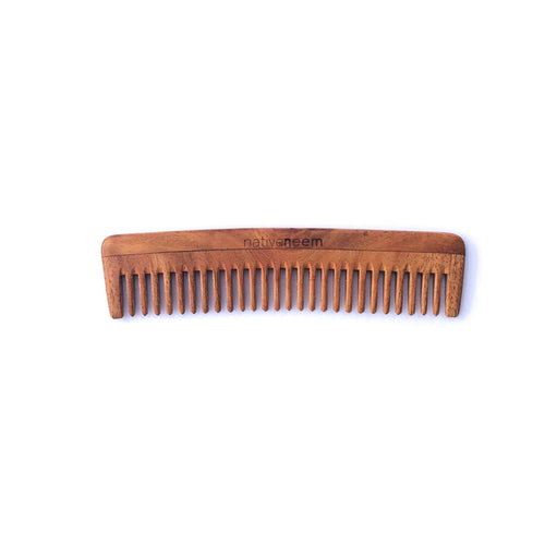 Wooden Neem Comb Wide Tooth - NativeNeem