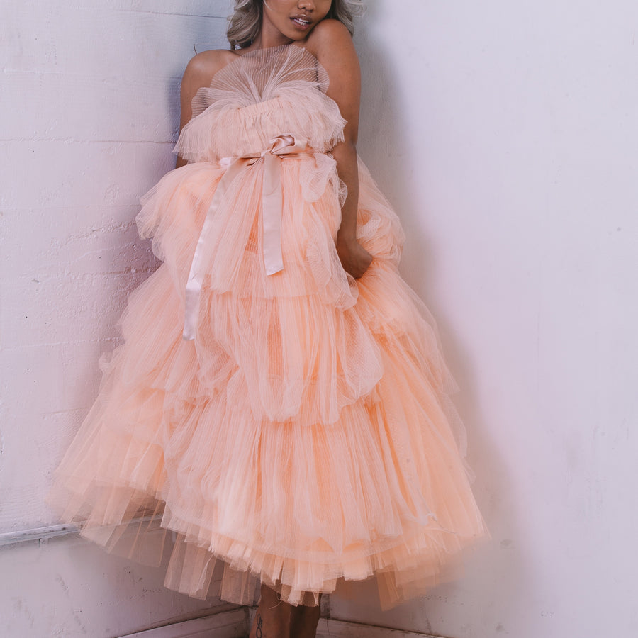 Ruffled Up Tulle Dress