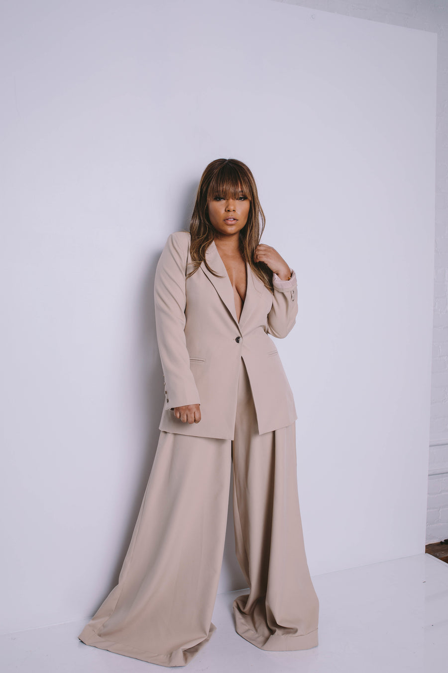 THE POWER SUIT | WIDE LEG PANT SET ESTIMATED SHIP 4/20-5/10