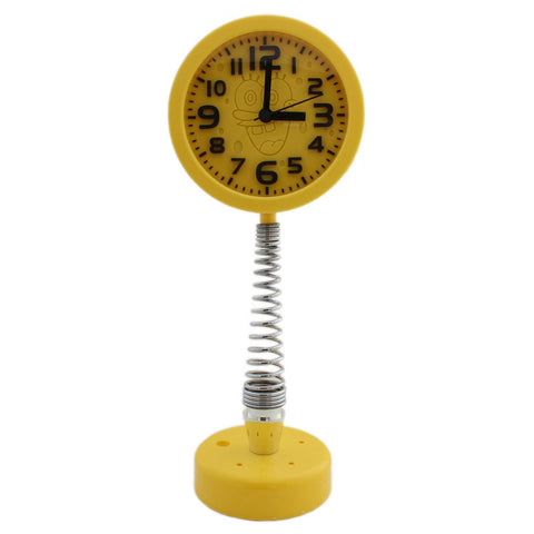 Yellow Spring Stand design Cartoon Alarm Clock - Tootpado