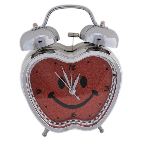 Apple Shape Analog  Alarm Clock - Quartz Retro Bedside Room Decor (Size 12x5.5x15 cm) - Tootpado - 1