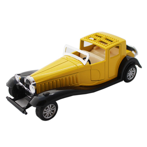 Yellow Vintage Model Metal Toy Car With Pull Back Mechanism - Tootpado - 7