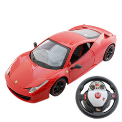 1/14 Remote Control Sports Car With Light and Rechargeable Batteries - Red - (TNGb009)