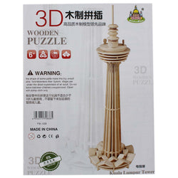 Wooden 3D Puzzle Board Games - Kuala Lumpur Tower (WNTb052)