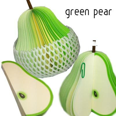 Fruit Shape Pear Notepad (Set Of 2) - Tootpado - 1