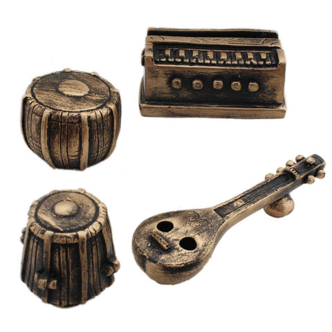 Miniature Indian Musical Set Desk Organiser - Set of 4 - Tootpado - 1