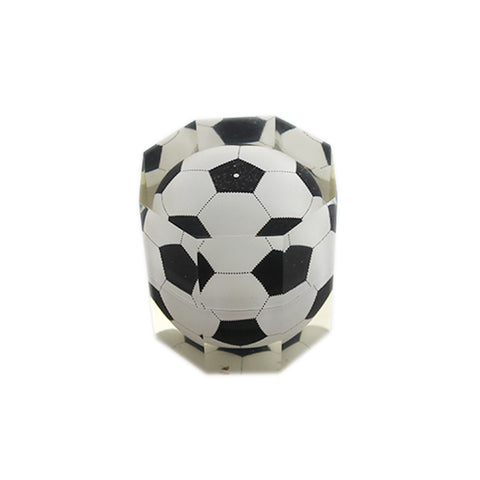 Acrylic Paper Weight  Football Design - Octagon (1d554) - Stationary For School Office Table Home Decor