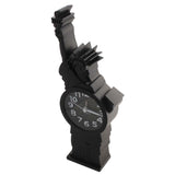 Quartz Statue of Liberty Shape Alarm Clock (1h119) - Black - Analog Room Decor (Size 9x4x27 cm)