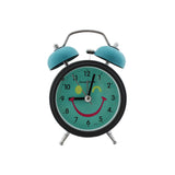 Twin Bell Alarm Clock Round Smiley Design - Blue (1h189) -  Kids Room Desk and Home Decor