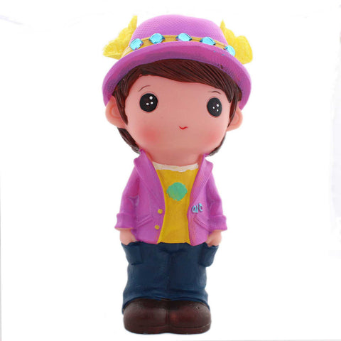 Cute Doll Boy With Hat Coin Bank - Tootpado