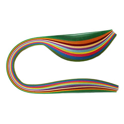 100 Multi-Colour Quilling Paper Strips (25mm) - Tootpado